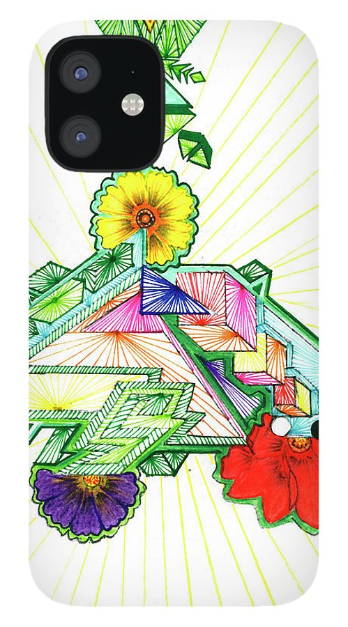 IPhone 12 Case featuring the drawing Journey of Light by Harry Richards
