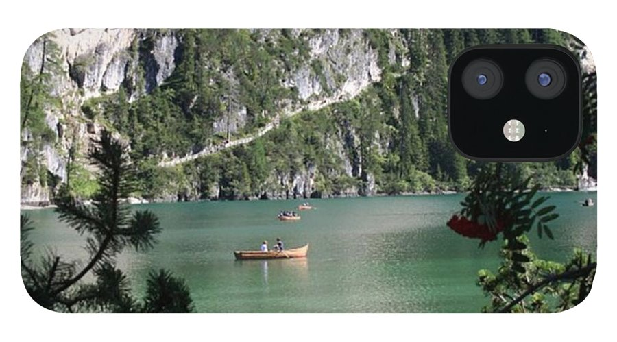 Dolomites IPhone 12 Case featuring the photograph Lake of Braies by Luisa Azzolini