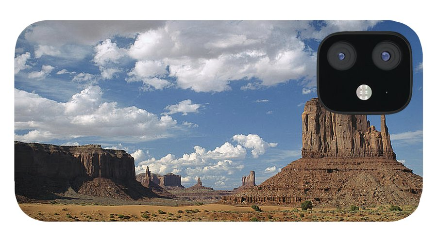 00171161 iPhone 12 Case featuring the photograph Landscape View Monument Valley Navajo by Tim Fitzharris