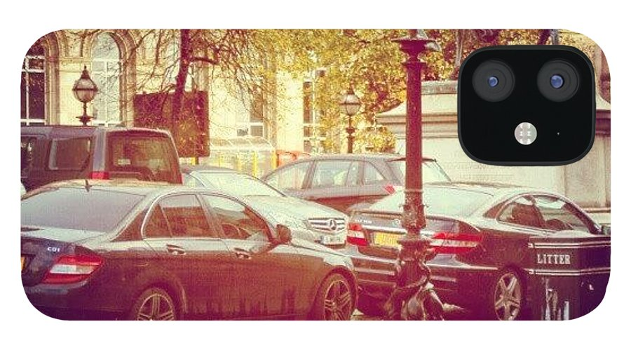 Rainy IPhone 12 Case featuring the photograph #liverpool #uk #england #museum #cars by Abdelrahman Alawwad