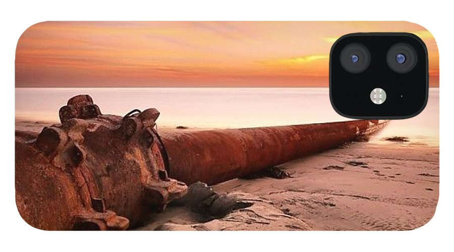 IPhone 12 Case featuring the photograph Long Exposure Sunset At Cardiff State by Larry Marshall
