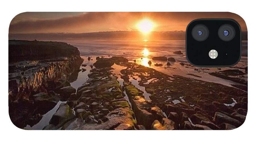 IPhone 12 Case featuring the photograph Long Exposure Sunset In La Jolla by Larry Marshall