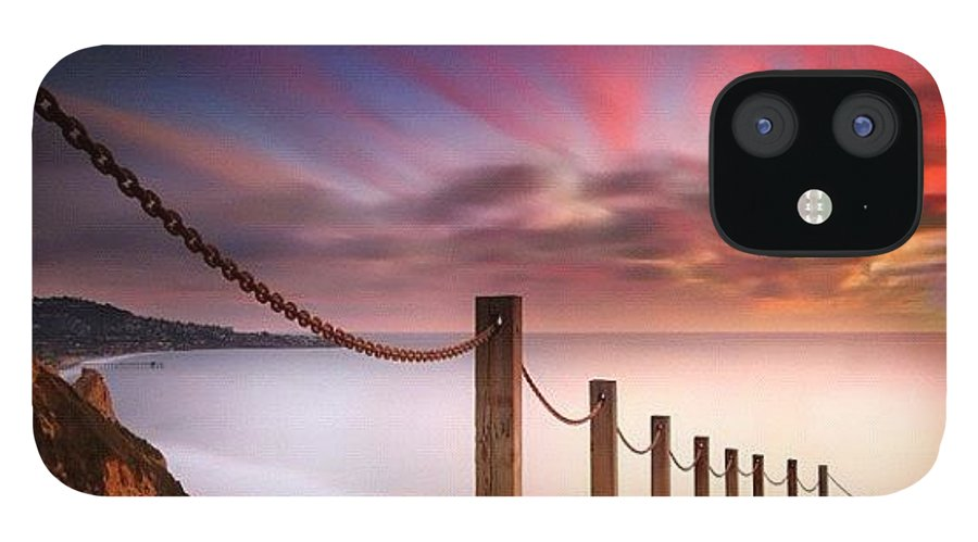 IPhone 12 Case featuring the photograph Long Exposure Sunset Shot From The by Larry Marshall