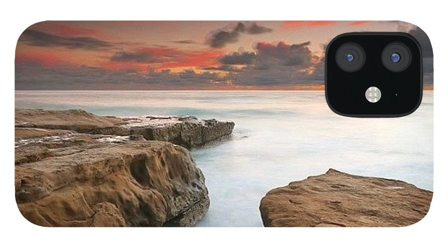 IPhone 12 Case featuring the photograph Long Exposure Sunset Taken Just After by Larry Marshall