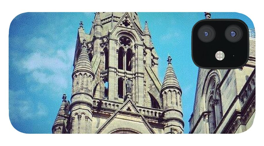 City IPhone 12 Case featuring the photograph #manchester #buildings #classic by Abdelrahman Alawwad