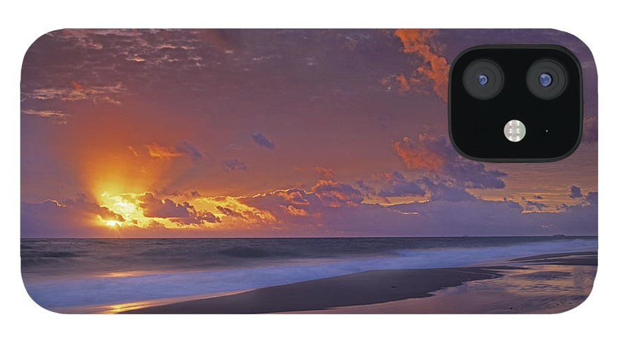 00175852 iPhone 12 Case featuring the photograph Mcarthur Beach At Sunrise Florida by Tim Fitzharris