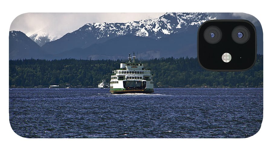 Seattle IPhone 12 Case featuring the photograph MV Kaleetan Ferry by Larry Keahey