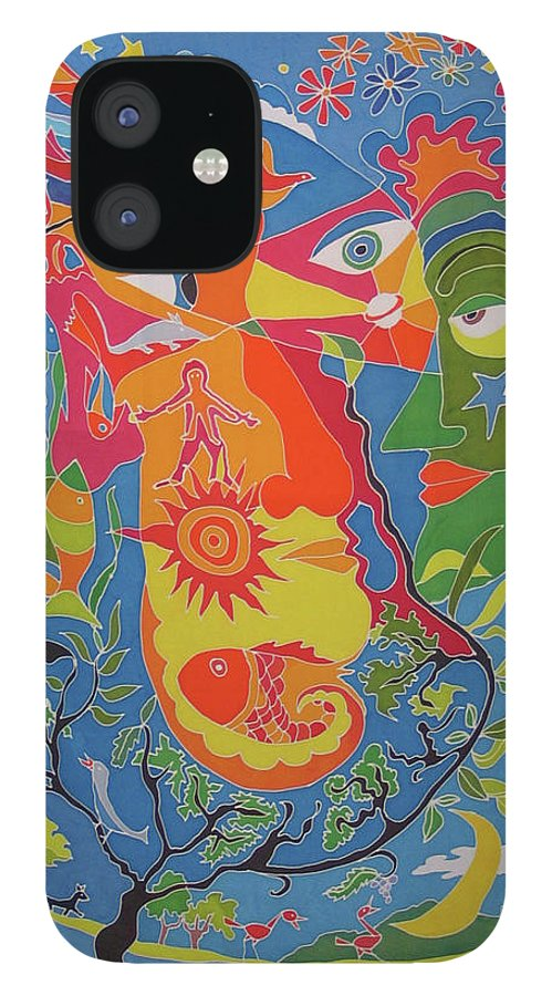 Nature IPhone 12 Case featuring the painting Nature by Rollin Kocsis