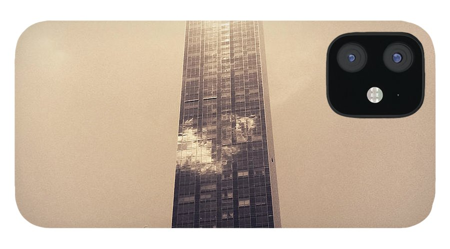 New York City IPhone 12 Case featuring the photograph New York City Glimmers and Reflections by Vivienne Gucwa