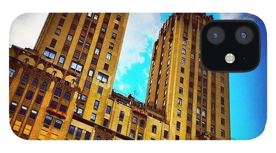 Building IPhone 12 Case featuring the photograph #nyc #clouds #centralpark #sky #building by Luke Kingma
