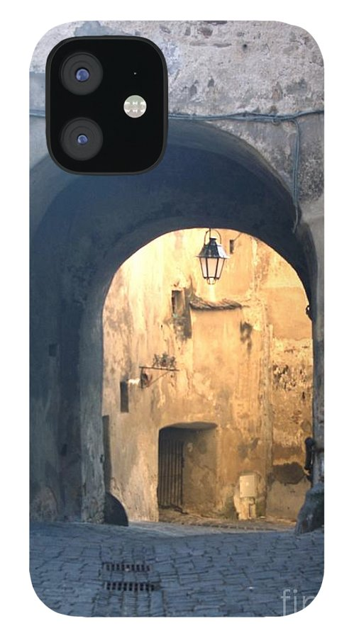 Sighisoara IPhone 12 Case featuring the photograph Old town gate 1 by Amalia Suruceanu