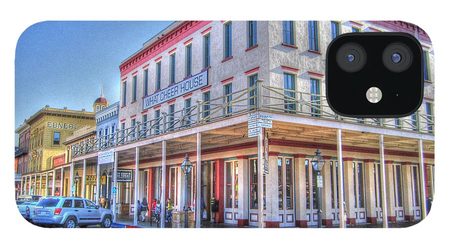 Street Corner IPhone 12 Case featuring the photograph Old Towne Sacramento by Barry Jones