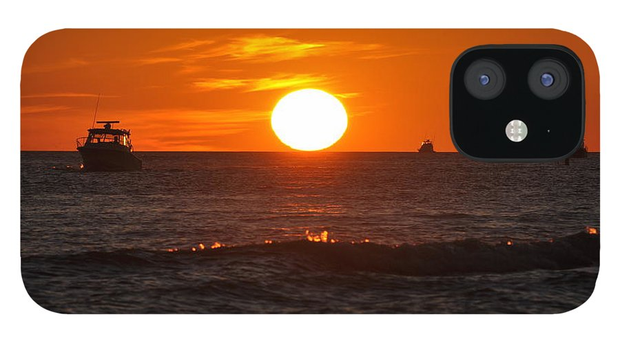 Sunset IPhone 12 Case featuring the photograph Orange Sunset I by Christine Stonebridge