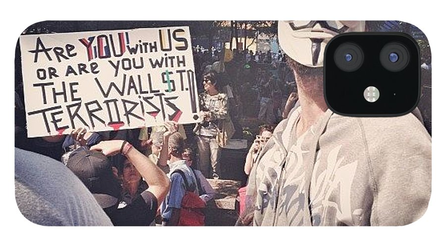Summer IPhone 12 Case featuring the photograph Ows Occupy Wall Street by Randy Lemoine