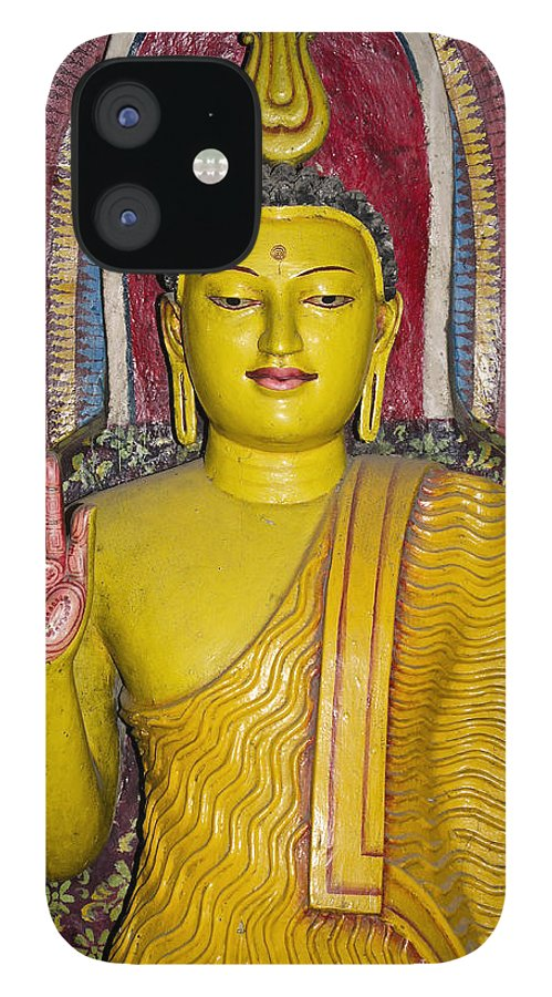 Asia IPhone 12 Case featuring the photograph Rainbow Buddha by Michele Burgess