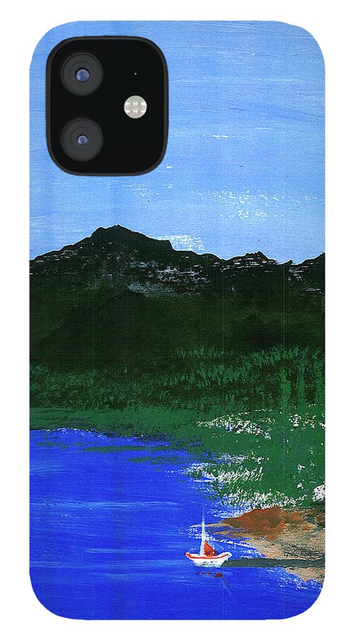 IPhone 12 Case featuring the painting Seaside by Harry Richards