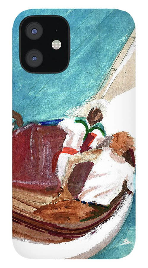IPhone 12 Case featuring the painting Setting Sail by Harry Richards
