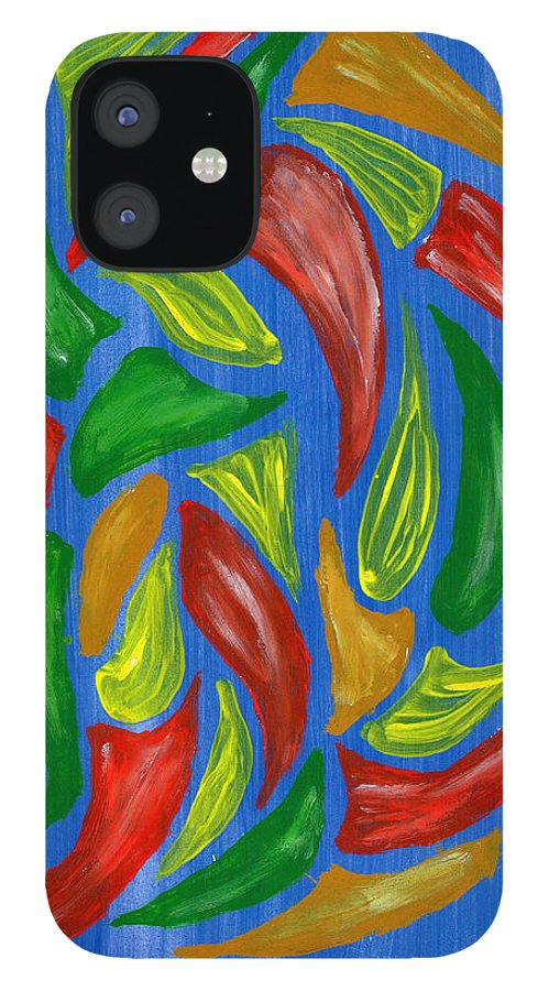 IPhone 12 Case featuring the pastel Spice of Life by Harry Richards