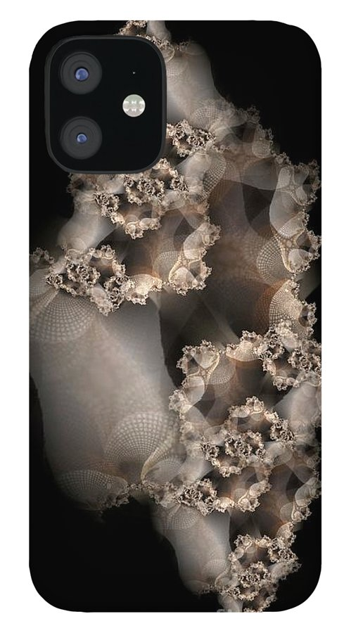 Fractal IPhone 12 Case featuring the digital art Spider Silk by Ron Bissett