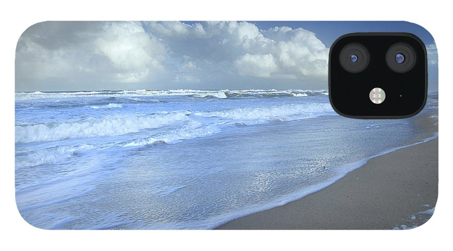 Mp iPhone 12 Case featuring the photograph Storm Cloud Over Beach, Canaveral by Tim Fitzharris