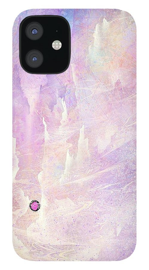 Landscape IPhone 12 Case featuring the digital art Stuck in a moment of time by William Russell Nowicki