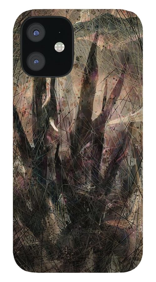 Landscape IPhone 12 Case featuring the digital art Tequila Sunrise by William Russell Nowicki