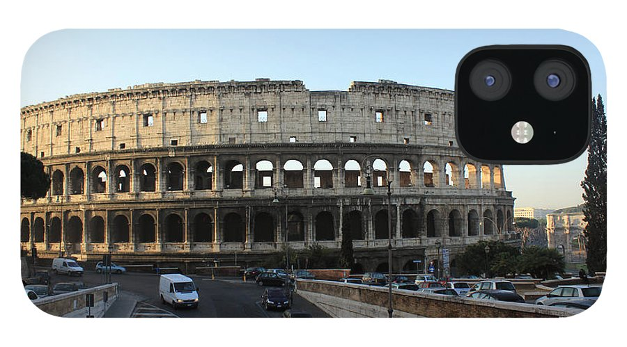 Rome IPhone 12 Case featuring the photograph The Colosseum in Rome by Munir Alawi