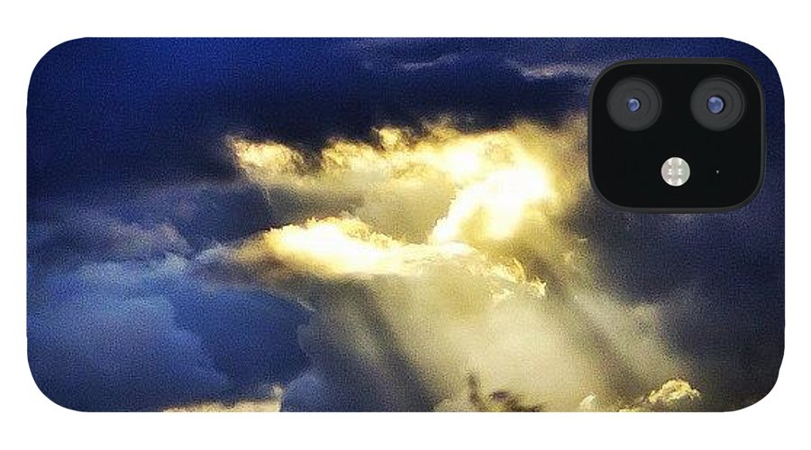 Primeshots IPhone 12 Case featuring the photograph The Gap In The Clouds by Carl Milner