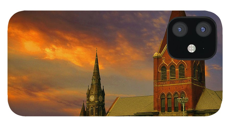 Church IPhone 12 Case featuring the photograph Towers Of Faith by Brian Fisher
