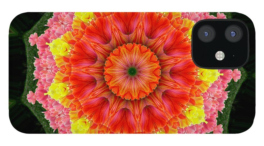 Digital Design IPhone 12 Case featuring the photograph Tulips 3 by Mark Gilman