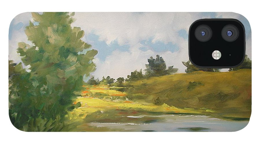 Landscape IPhone 12 Case featuring the painting Welcome Home by Marlene Gremillion