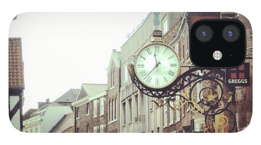 Building IPhone 12 Case featuring the photograph #york #city #uk #england #building by Abdelrahman Alawwad