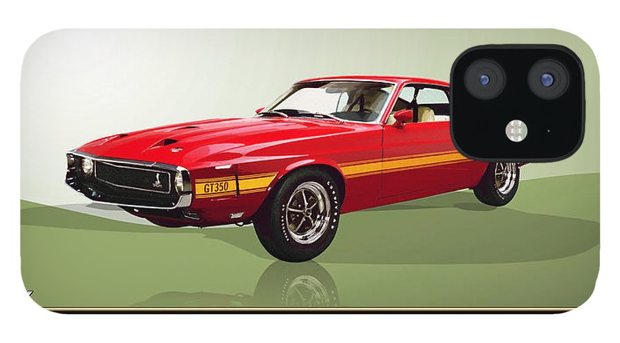 Wheels Of Fortune By Serge Averbukh IPhone 12 Case featuring the photograph 1969 Shelby v8 GT350 by Serge Averbukh