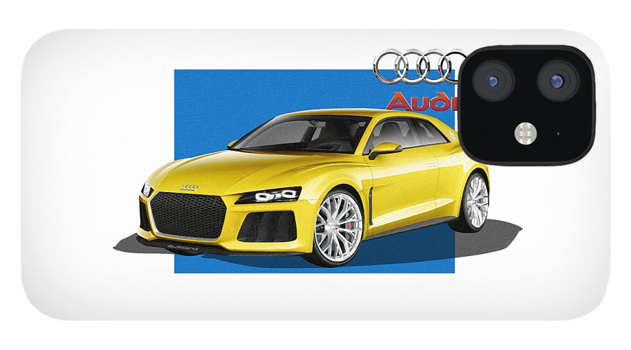 �audi� Collection By Serge Averbukh IPhone 12 Case featuring the photograph Audi Sport Quattro Concept with 3 D Badge by Serge Averbukh