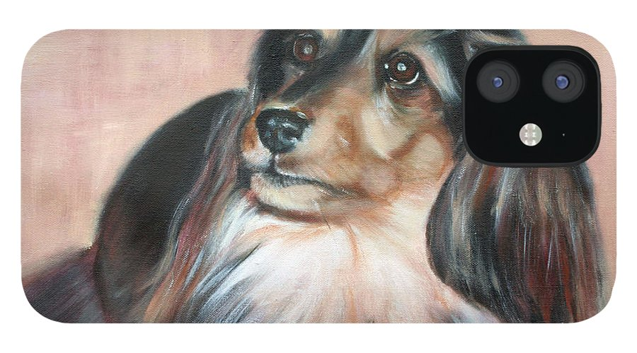 IPhone 12 Case featuring the painting Bonnie by Fiona Jack