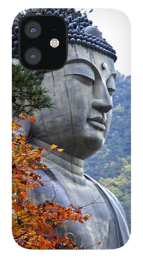 Buddha IPhone 12 Case featuring the photograph Buddha in Autumn by Michele Burgess
