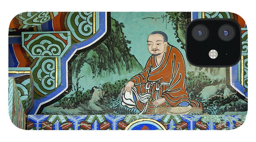 Buddha IPhone 12 Case featuring the photograph Buddhist Temple Art by Michele Burgess