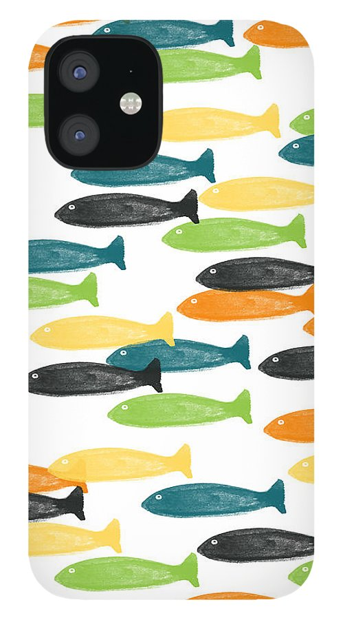 Fish IPhone 12 Case featuring the painting Colorful Fish by Linda Woods