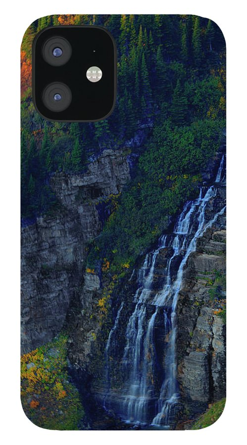 Glacier IPhone 12 Case featuring the photograph Glacier Waterfall by Roy Nierdieck