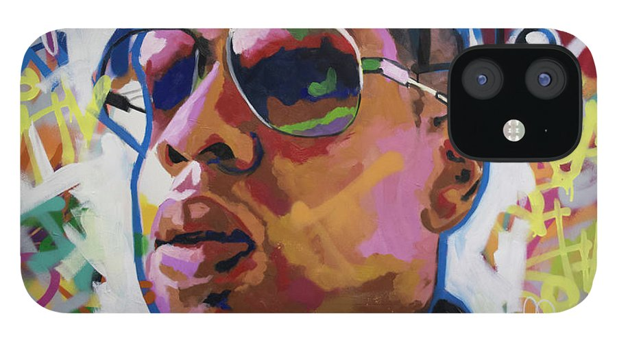 Jay Z IPhone 12 Case featuring the painting Jay Z by Richard Day