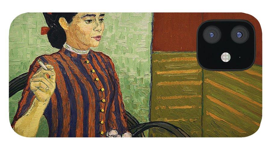 IPhone 12 Case featuring the painting La Mousme is Unconvinced by Dominika Pietrzak