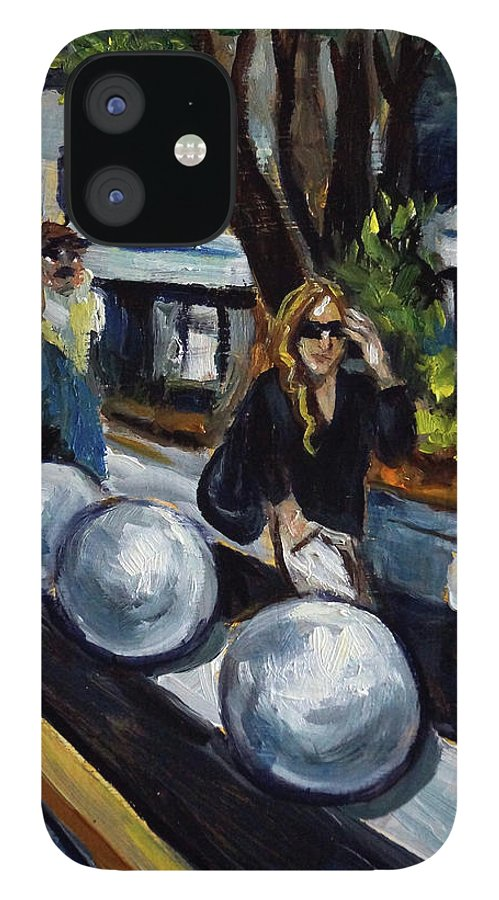 Sobe IPhone 12 Case featuring the painting Lincoln Road by Valerie Vescovi