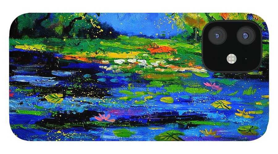 Landscape IPhone 12 Case featuring the painting Magic pond 765170 by Pol Ledent