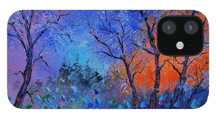 Landscape IPhone 12 Case featuring the painting Magic wood by Pol Ledent