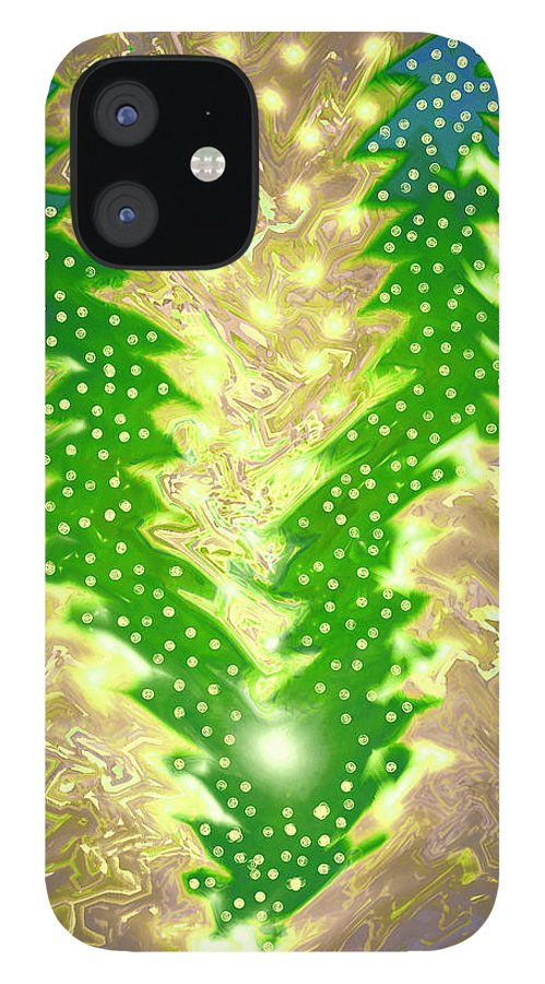 Moveonart! Digital Gallery IPhone 12 Case featuring the digital art MoveOnArt Christmas 2009 Collection Victory Tree by Jacob Kanduch