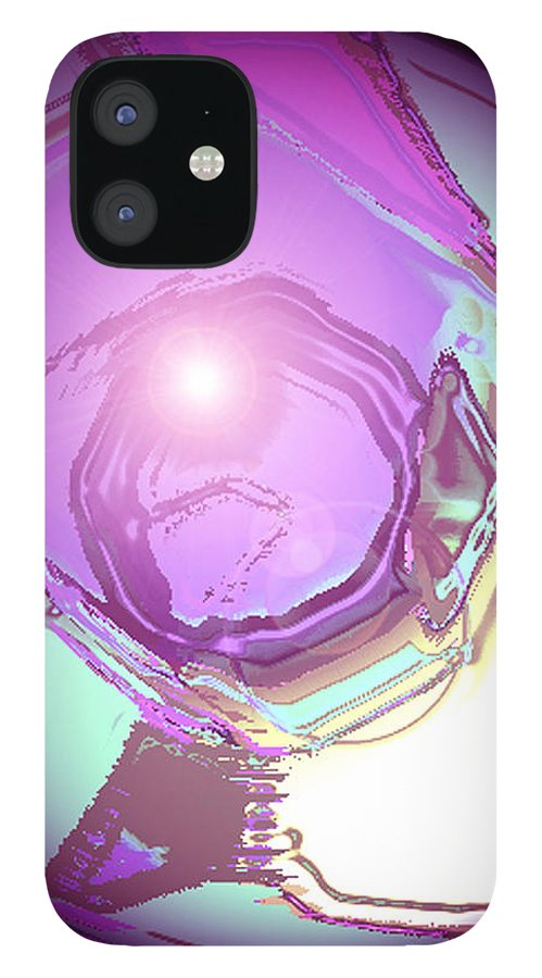 Moveonart! Digital Gallery IPhone 12 Case featuring the digital art MoveOnArt Inspiration Intuition Intellect by Jacob Kanduch
