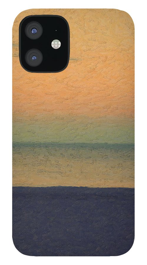�not Quite Rothko� Collection By Serge Averbukh IPhone 12 Case featuring the photograph Not quite Rothko - Breezy Twilight by Serge Averbukh