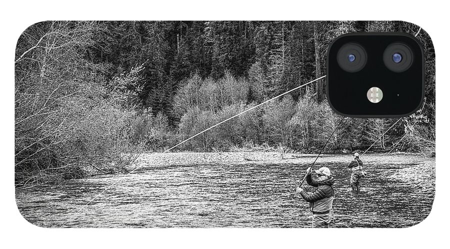 Flyfishing IPhone 12 Case featuring the photograph On the River by Jason Brooks