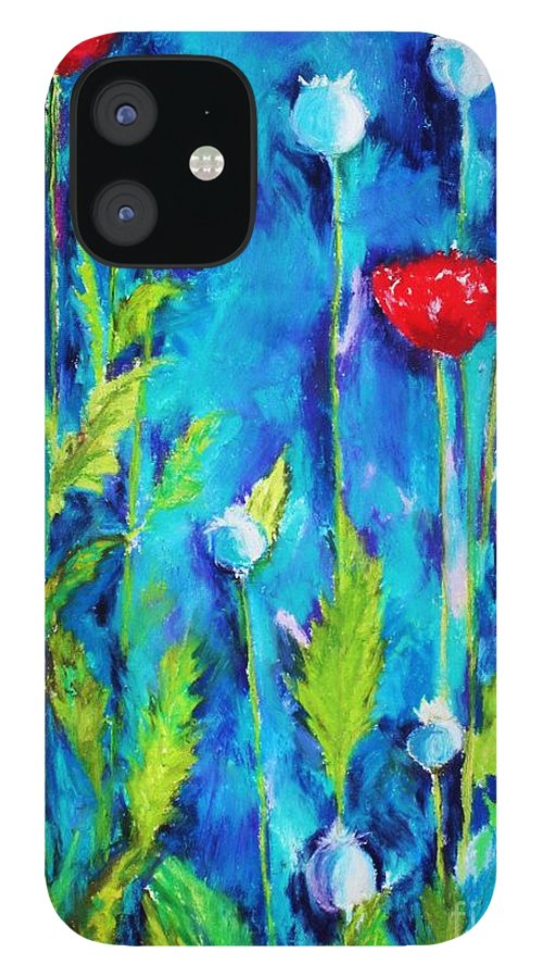 Poppies IPhone 12 Case featuring the painting Poppies by Melinda Etzold
