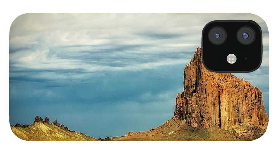 Nature IPhone 12 Case featuring the photograph Shiprock, New Mexico by Zayne Diamond Photographic